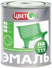 Эмаль ПФ-115 черный (20кг) ЦветОК
